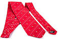 Мужской шелковый галстук SCHONAU & HOUCKEN FARESHS-02 красный, фото 2
