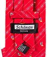 Мужской шелковый галстук SCHONAU & HOUCKEN FARESHS-02 красный, фото 3