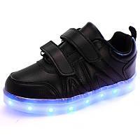Детские светящиеся кроссовки LEDKED Kids Black