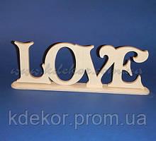 Слово LOVE на подставке заготовка для декора