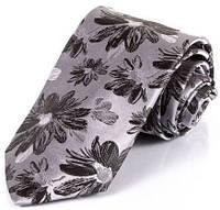 Классический мужской шелковый галстук SCHONAU & HOUCKEN (ШЕНАУ & ХОЙКЕН) FARESHS-06 -серый