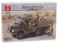 """Конструктор SLUBAN """"Военный грузовик"""", 229деталей"""