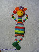 Жираф, мягкая игрушка вязаная крючком, ручная работа