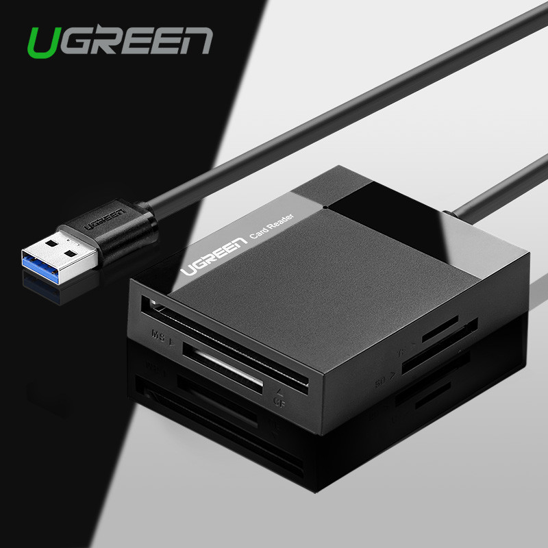 Ugreen Кард-ридер Все в 1 USB 3.0 для TF / SD (MicroSD) / CF / MS