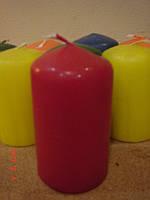 Свеча цветная круглая (мини) Уценка бордовая, красная
