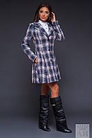 Женское пальто из теплого букле на подкладке