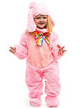 Костюм зайчика розового для детей от 0,5 до 2,5 лет, фото 2