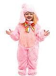 Костюм зайчика розового для детей от 0,5 до 2,5 лет, фото 3