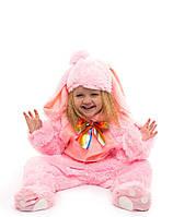 Костюм зайчика розового для детей от 0,5 до 2,5 лет