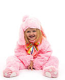 Костюм зайчика розового для детей от 0,5 до 2,5 лет, фото 4