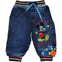 "Джинсы (флис) ""Mickey Mouse Club"" для мальчика от 06-24 мес"
