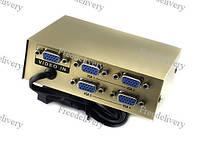 VGA сплиттер, разветвитель на 4 порта 150 МГц 20 м