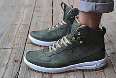 Мужские кроссовки Nike Lunar Force 1 зеленые  топ реплика