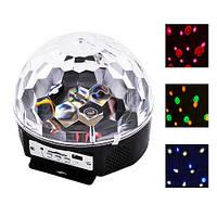 Светодиодный диско шар светомузыка Magic Ball Led Lighting MP3 с пультом и USB флешкой