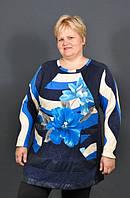"""Туника женская """"Волна""""с красивым цветочным принтом"""