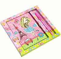 Блокнот для девочки с замком