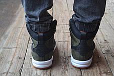 Мужские кроссовки Nike Lunar черно-зеленые топ реплика, фото 3