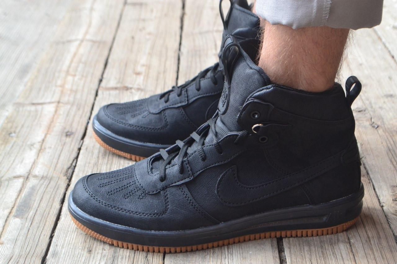 Мужские кроссовки Nike Lunar черные топ реплика