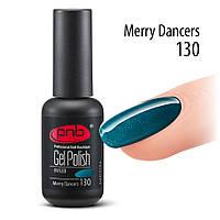 Гель-лак PNB Gel Polish №130 Merry Dancers (бирюзовый, с мерцанием), 8 мл