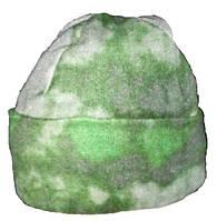 Шапка флисовая камуфляж Атакс (зеленый)