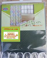 Шторка для ванной комнаты Shower curtain, однотонная зеленая. Размер 200х180 см., фото 1
