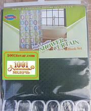Шторка для ванной комнаты Shower curtain, однотонная зеленая. Размер 200х180 см.