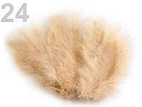Страусовые перья длина 10-15 см. для декора. №24, карамельный