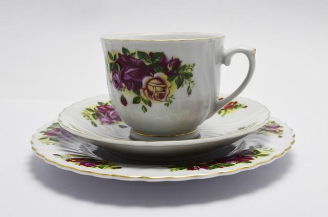 Чайное трио чашка, фарфор, ROYAL NERFOLK  Англия