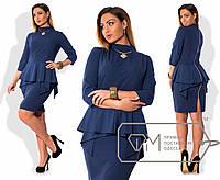 Платье женское синие баска VV/-01