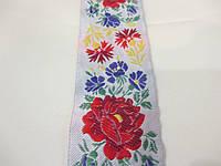 Тасьма декоративна з орнаментом жакардова  Квіти 5 див.