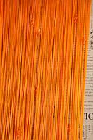 Шторы нити с тройным стеклярусом оранжевый  (03)