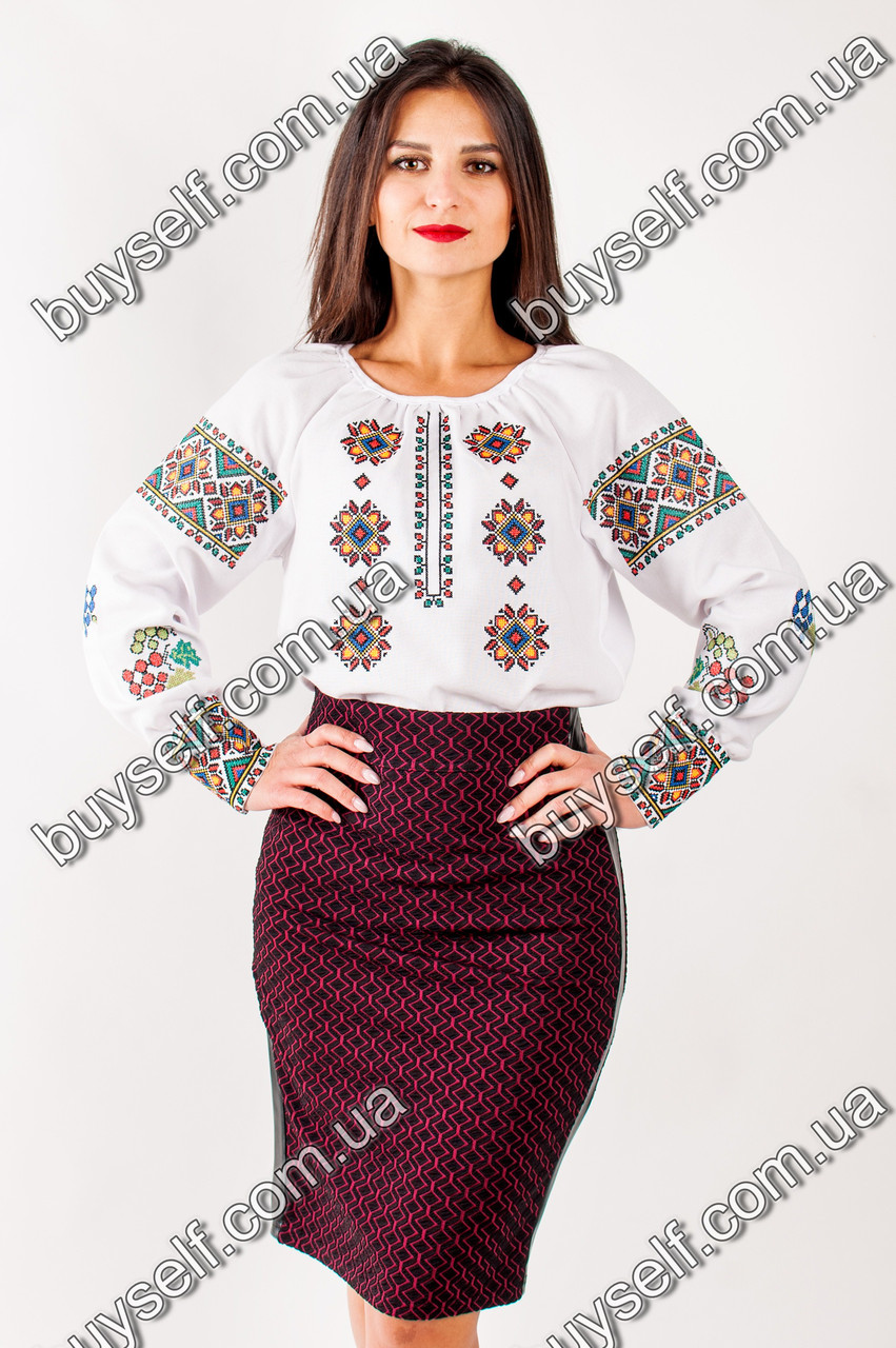 Классическая вышиванка Роксолана на песочном льне - Интернет-магазин  Buyself.com.ua в 21a46c6039138