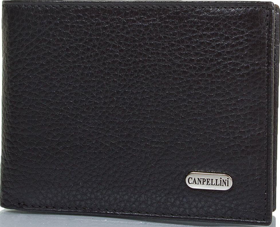 Функциональный мужской кожаный карманный кошелек CANPELLINI SHI1409-7 черный