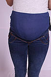 Джинсы для беременных Big Lesson зимние (код 3342син), фото 7