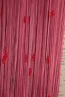 Веревочные шторы с тройным стеклярусом фрезовые  (06)