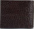 Красивый мужской кожаный карманный кошелек с тиснением под кожу крокодила CANPELLINI SHI1044-11 коричневый, фото 3