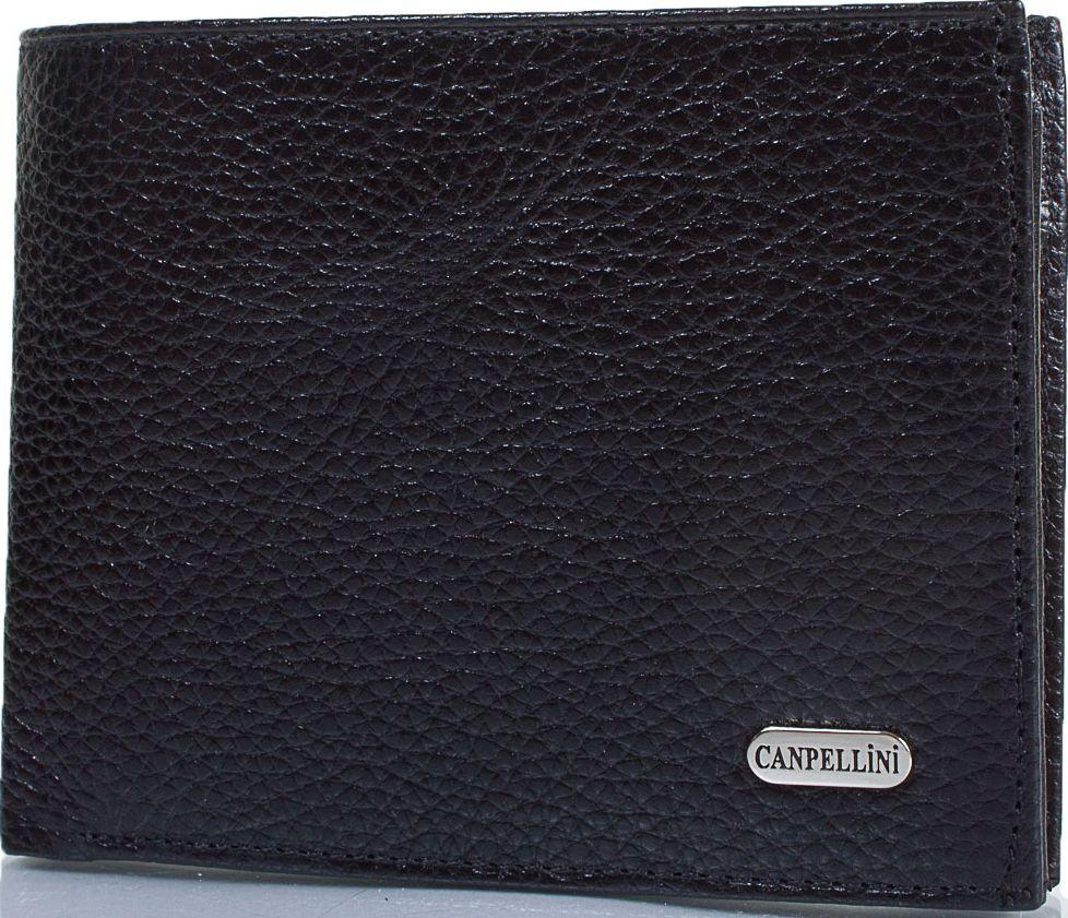Надежный мужской кожаный карманный кошелек CANPELLINI SHI1042-7 черный