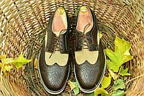 Кожаные мужские туфли броги Florentino (новые).