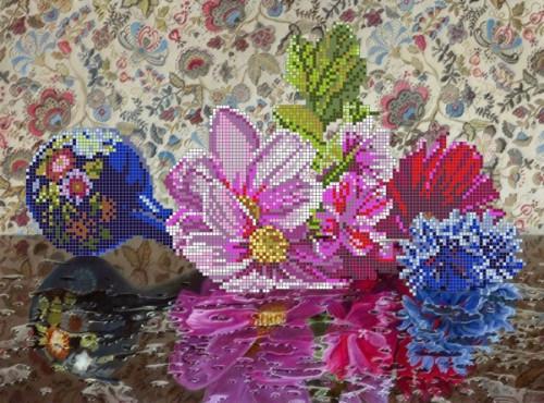 Схема на ткани для вышивки бисером S-075. ЦВЕТОЧНАЯ ФЕЕРИЯ  продажа ... d3f0b0a0eb6c9