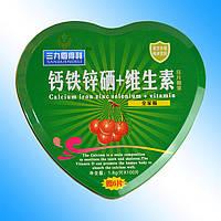 Таблетки с кальцием, железом, селеном, цинком и витаминами 100шт х1,8г