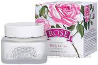 """Дневной крем для лица """"Rose"""" с натуральным розовым маслом """"Болгарская роза - Карлово"""""""