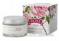 """Восстанавливающий крем для лица """"Rose Q10"""" с натуральным розовым маслом """"Болгарская роза - Карлово"""""""
