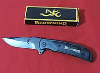 Нож складной Browning (длина: 21.0см, лезвие: 9.0см), черный., фото 1