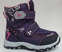 Термо сапоги зимние на девочку BIKI. детская зимняя обувь  28  32