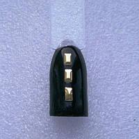 Прямоугольник золотой для дизайна ногтей 50шт.