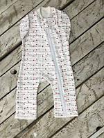 Детский спальник (человечек) с возможностью пеленания С любовью для девочки с рождения до 6 месяцев ТМ MagBaby