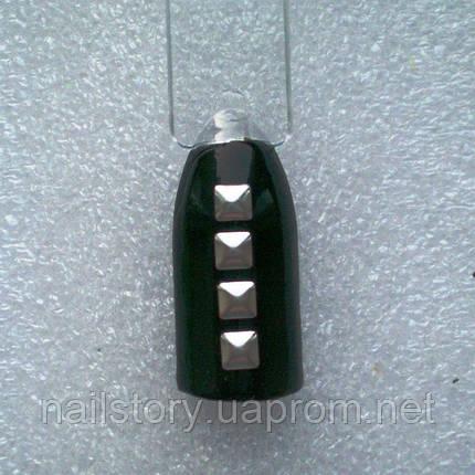 Квадрат серебряный для дизайна ногтей 50шт., фото 2