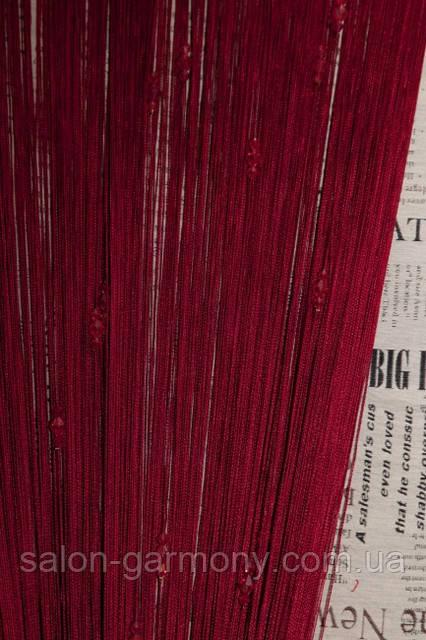 Нитяные шторы кисея с тройным стеклярусом бордовая (04), цена 260 грн.,  купить в Днепре — Prom.ua (ID#28833457)