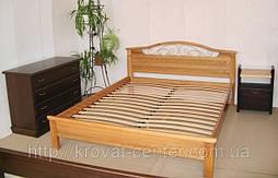 """Кровать """"Фантазия - 2"""". Массив - ольха."""
