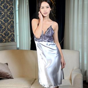 Пеньюар ночная сорочка серебро, фото 2